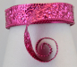 Preview: Aluminium wire oriental embossed 30x0,5mm 2m strong pink
