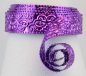 Preview: Aluminium wire oriental embossed 30x0,5mm 2m lilac