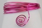 Preview: Aluminium wire triangle embossed 2,8mmx5m strong pink