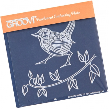 Groovi Baby Plate A6 - Wren & Leaves