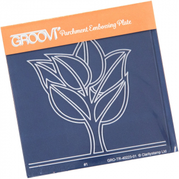 Groovi Baby Plate A6 - Abstract Leafy Tree
