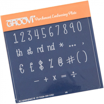 Groovi Baby Plate A6 - Numbers & Symbols
