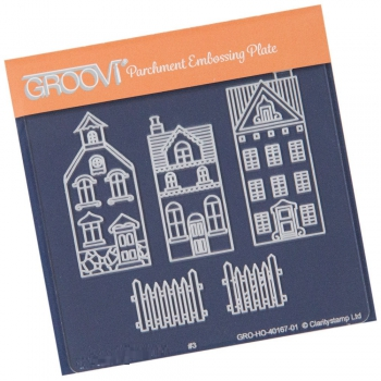 Groovi Baby Plate A6 - Wee Houses & Fence