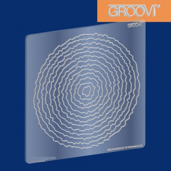 Circle Deckle Nested Groovi Plate A5 Square