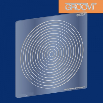 Circle Nested Groovi Plate A5 Square