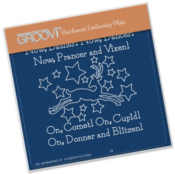 Groovi Baby Plate A6 - Twas the Night (07) - Now Dasher!