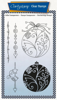 Large Baubles - Tina's 2 Way Christmas Ornaments A6 Stamp Set