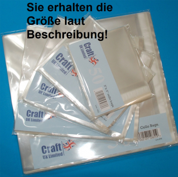 Craft UK Cello Bags 8x8 Inch