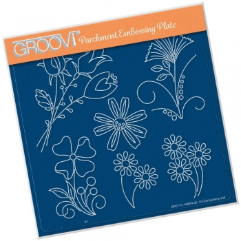 Tina's Flower Fun A5 Square Groovi Plate