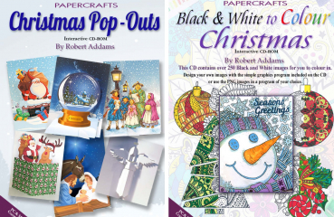 2er Set - Christmas Pop-Outs + Black and White to Colour Christmas