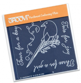 Groovi Baby Plate A6 - Magpie 1 (One For Sorrow)