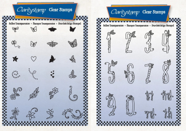 2er Set Happy Embellishments A6 + Happy Numbers A6 Unmounted Stamp Set