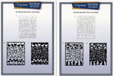 2er Set The Earth Has Music Three-way Overlay + Be Still and Listen Three-way Overlay Unmounted Clear Stamp Set