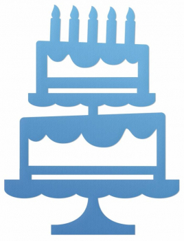 Couture Creations Tiered Cake Silhouette Mini Die