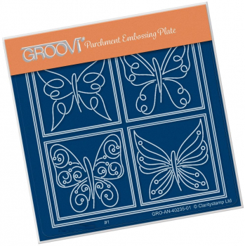 Tina's Butterfly Farfalla Petite A6 Square Groovi Plate