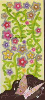 3 Dimensionaler Sticker - Blumen