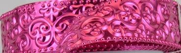 Aluminium wire oriental embossed 30x0,5mm 2m strong pink