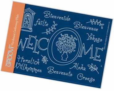 Welcome A6 Groovi Plate