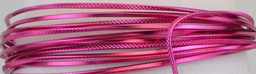 Aluminium wire triangle embossed 2,8mmx5m strong pink