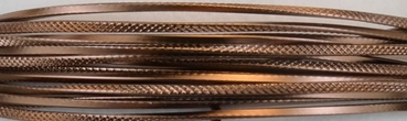 Aluminium wire triangle embossed 2,8mmx5m chocolate