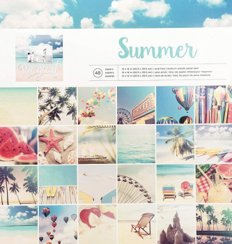American Crafts paper pad 30,5x30,5cm x48 photo real summer