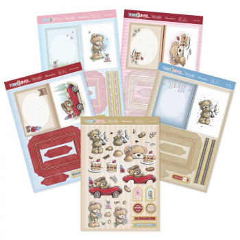 Teddy Loves… Decoupage Book Concept Cards