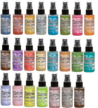 XXL Set - Ranger Tim Holtz distress oxide spray - alle 23 Stück!