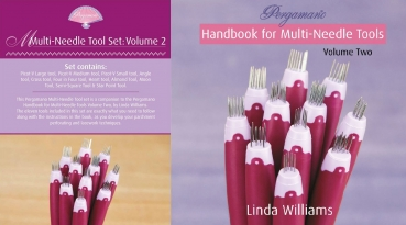XXL Set Multi-Needle Tool Set: Volume 2 + Pergamano Handbook for Multi-Needle Tools: Volume two by Linda Williams