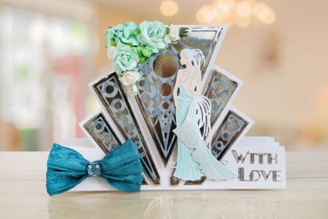Tattered Lace - Art Deco Stepper Card