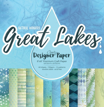 "Great Lakes 8"" x 8"" Clarity Designer Paper"