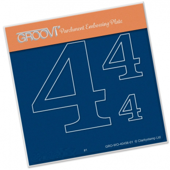 Groovi Baby Plate A6 - Open Numbers 4