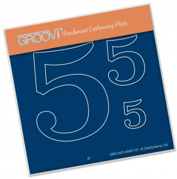 Groovi Baby Plate A6 - Open Numbers 5