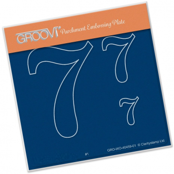 Groovi Baby Plate A6 - Open Numbers 7