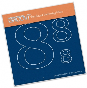 Groovi Baby Plate A6 - Open Numbers 8