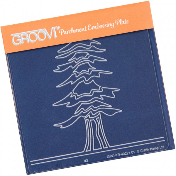 Groovi Baby Plate A6 - Abstract Spruce Tree