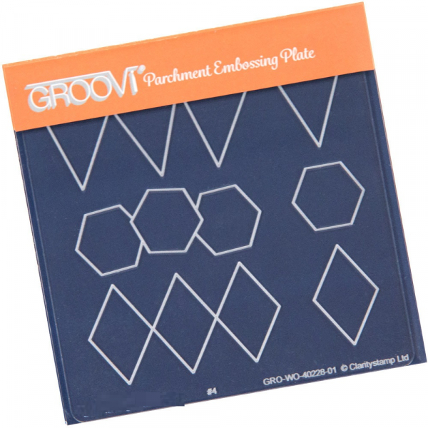 Groovi Baby Plate A6 - Bunting, Octagons & Diamonds