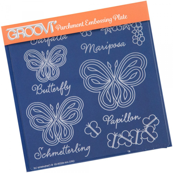 Butterflies with Words Groovi Plate