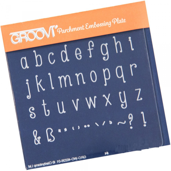 Groovi Baby Plate A6 - Lower Case Alphabet