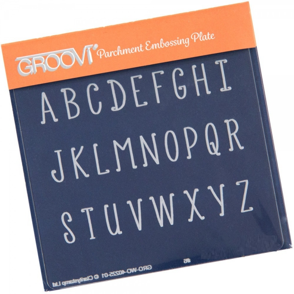 Groovi Baby Plate A6 - Upper Case Alphabet