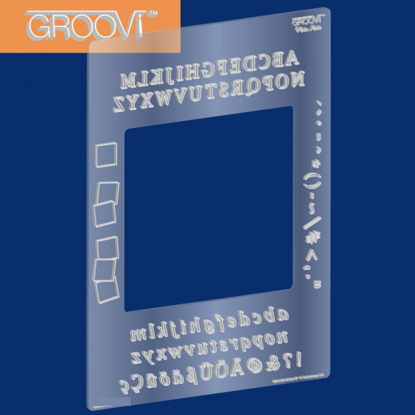 Groovi Plate Mate (Alphabet) For A5 Square Plates