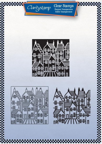 Townhouse Three Way Overlay Unmounted Clear Stamp Set