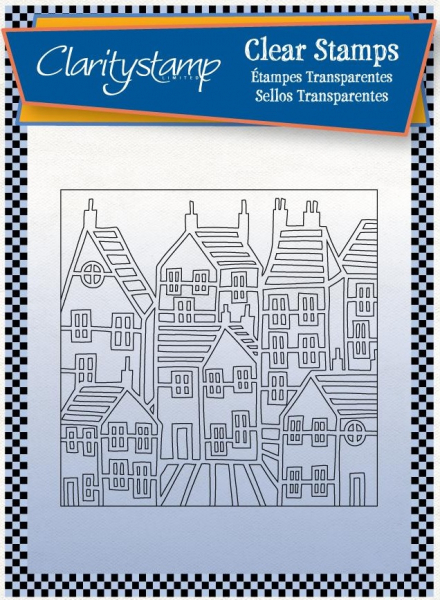 Townhouse Outline + Mask Unmounted Clear Stamp Set