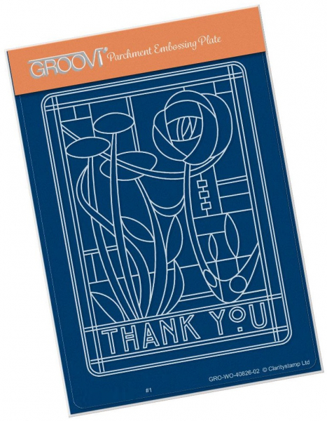 Thank You Art Nouveau A6 Groovi Plate