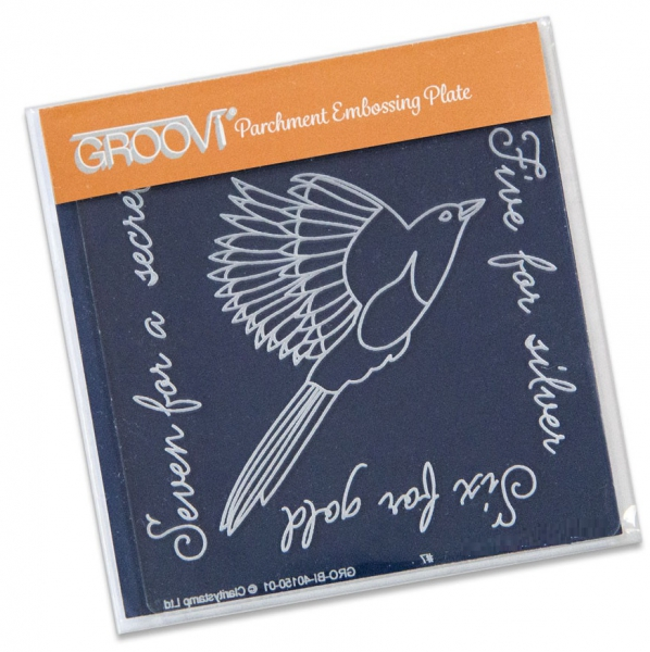 Groovi Baby Plate A6 - Magpie 2 (Five For Silver)