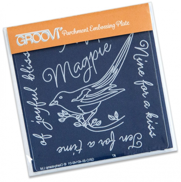 Groovi Baby Plate A6 - Magpie 3 (Eight For A Wish)