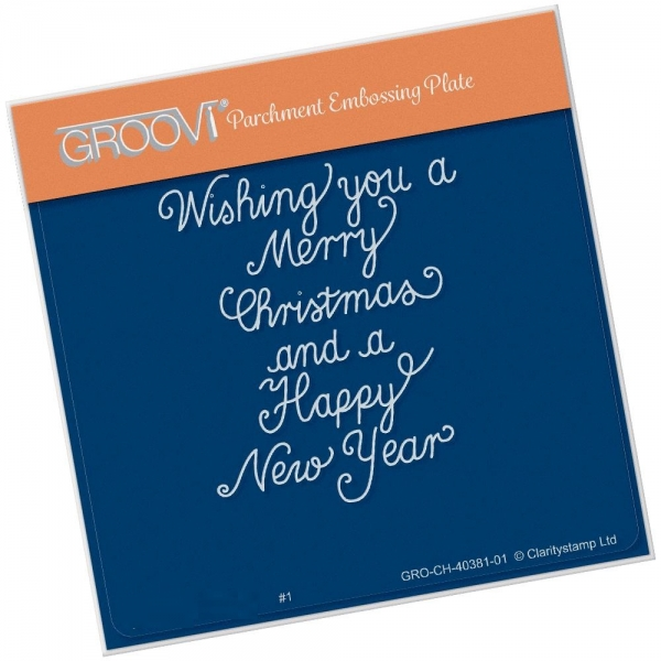 Traditional Christmas Message A6 Square Groovi Plate