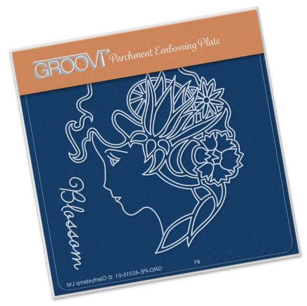 Groovi Baby Plate A6 - Blossom