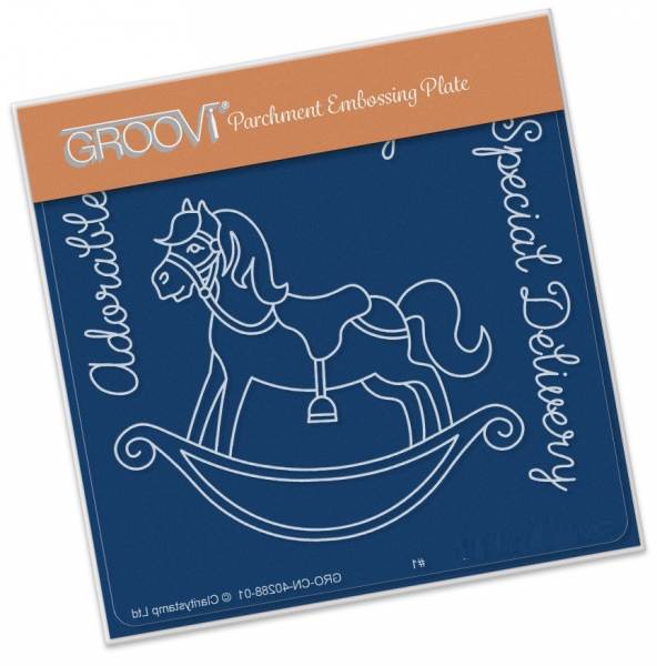 Groovi Baby Plate A6 - Rocking Horse