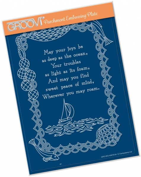 May Your Joys Verse A5 Groovi Plate