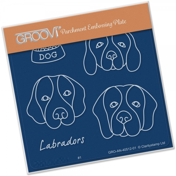 Groovi Baby Plate A6 - Kennel Club - Labradors